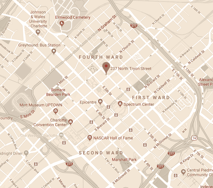 Map to the Dunhill Hotel
